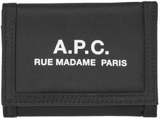 A.P.C. Recuperation Nylon Logo Velcro Wallet