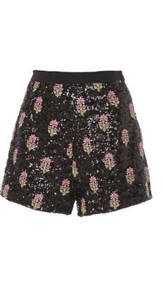 Giambattista Valli Sequin Mini Shorts