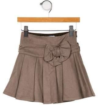 Tartine et Chocolat Girls' Wool Pleated Skirt