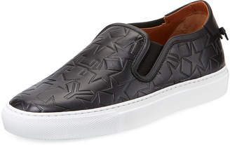 Givenchy Star Leather Low-Top Skate Sneakers, Black