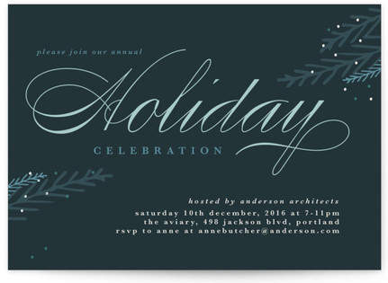 Winter Sprig Holiday Party Invitations