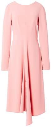 Tibi Triacetate Dress with V Back in Pink Haze