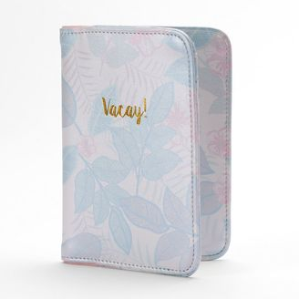 "LC Lauren Conrad Tropical ""Vacay!"" Faux Leather Passport Case $22 thestylecure.com"