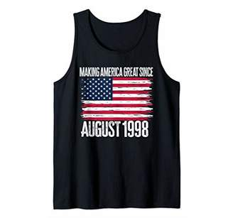Retro Making America Great Since August 1998 Birth Year Born Tank Top