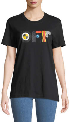 Off-White Off White Flags Crewneck Short-Sleeve Cotton Tee