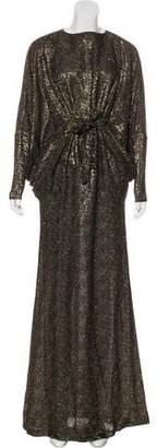 Issa Textured Metallic Dress