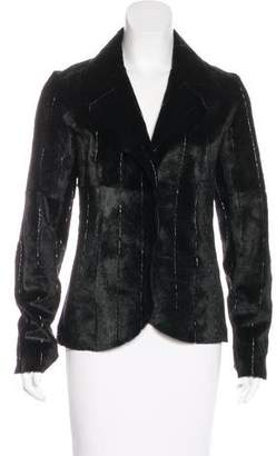 Giorgio Armani Embellished Leather Jacket