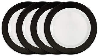 Q Squared Moonbeam Ring Black Melamine 4-Pc. Dinner Plate Set