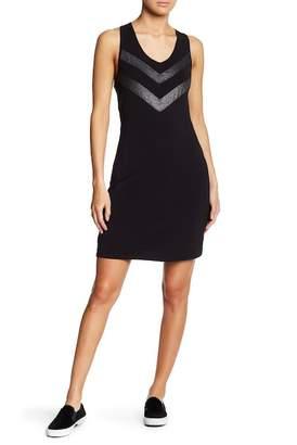 Threads 4 Thought Thora Heathered Knit Illusion Yoke Dress