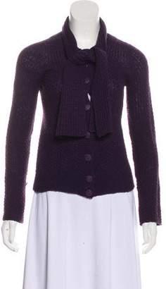 Emporio Armani Textured Knit Cardigan