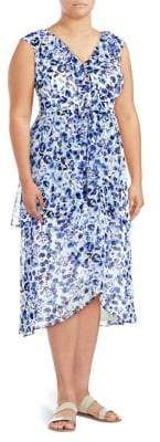 Rachel Roy Plus Sleeveless Floral Midi Dress