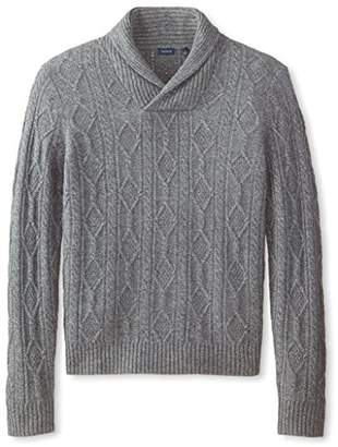 Thirty Five Kent Men's Cashmere Cable Shawl Collar