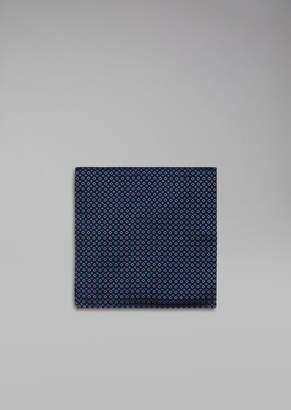 Giorgio Armani Polka-Dot Pure Silk Pocket Square