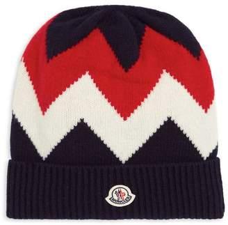 Moncler Zig Zag Cashmere Beanie Hat