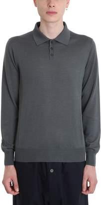 Jil Sander Grey Wool Polo
