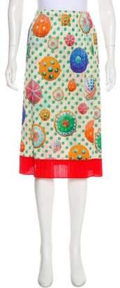 Pleats Please Issey Miyake Printed Plissé Skirt