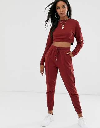 Asos Design DESIGN tracksuit cropped sweat / jogger with utility details