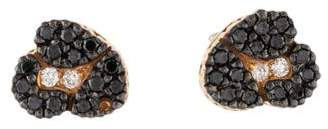 H.Stern 18K Diamond Ancient America Stud Earrings