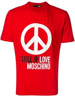 Love Moschino peace symbol print T-shirt
