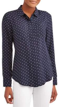 Online Women's Conversational Split Back Shirt