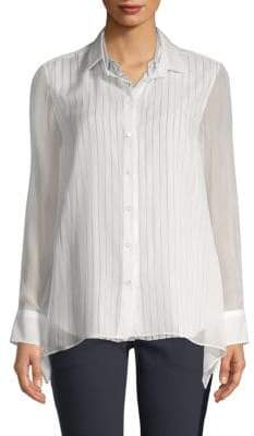 Brunello Cucinelli Double Layer Silk Shirt