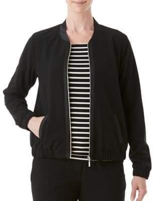 Olsen Stand Collar Bomber Jacket