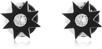 Colette Jewelry Stars Onyx & Diamond Earrings