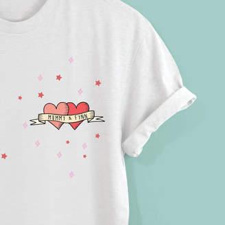 Squiffy Print Personalised Unisex Tattoo Tshirt