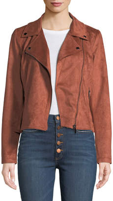 Bagatelle Faux-Suede Motorcycle Jacket