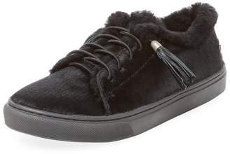 Mou Women's Calf Hair Slip-On Sneaker