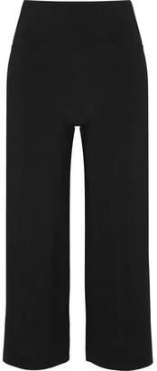 Norma Kamali Striped Stretch-jersey Pants - Black