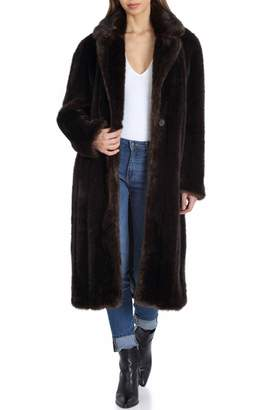 AVEC LES FILLES Faux Fur Walker Coat