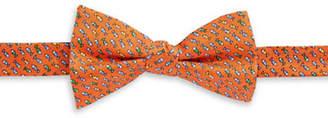 Tommy Hilfiger Fish Print Silk Pre-Tied Bow Tie