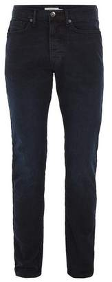 Topman Mens Blue Overdyed Stretch Slim Jeans