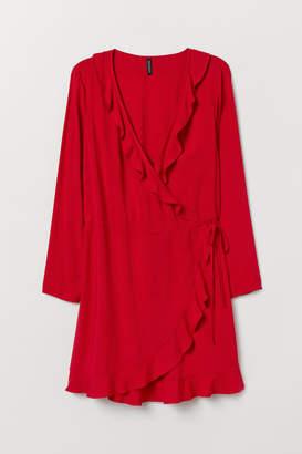H&M H&M+ Wrap Dress - Red