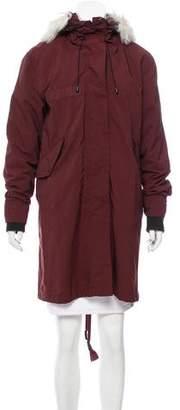 Rag & Bone Hooded Knee-Length Coat