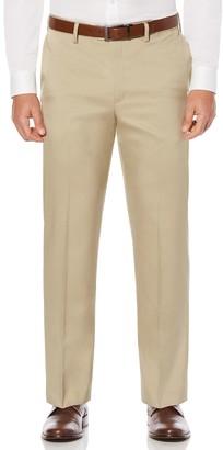 Savane Men's Straight-Fit Crosshatch Stretch Flat-Front Dress Pants