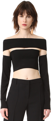 McQ - Alexander McQueen Bandeau Sleeves Top $395 thestylecure.com