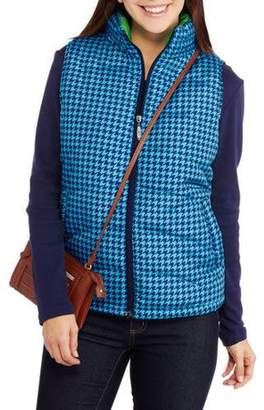 i5 Apparel I5 Inc. Women's Lightweight Puffer Vests with Contrast Lining