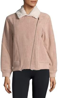 MinkPink Women's Faux Fur-Trimmed Bomber Jacket