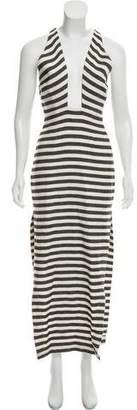 Mara Hoffman Striped Crossover Dress