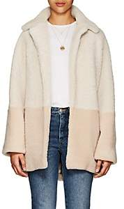 Martin Grant Women's Colorblocked Shearling Coat - Ivory