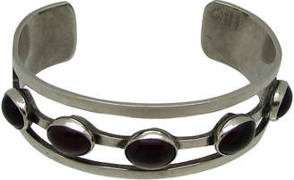 One Kings Lane Vintage Modernist Amethyst Glass Cuff - Thanks for the Memories