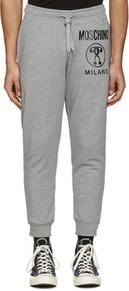 Moschino Grey Logo Lounge Pants $350 thestylecure.com