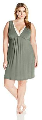 Arabella Women's Plus Size Chemise with Lace Neckline