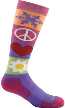 Darn Tough Peace Love Snow Jr. Over-The-Calf Cushion Sock - Girls'