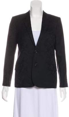 Saint Laurent Wool Notch-Lapel Blazer