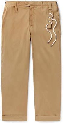 Craig Green Wide-Leg Cotton-Blend Twill Trousers - Men - Beige