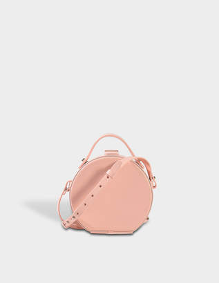 At Monnier Frères Nico Giani Tunilla Mini Circle Bag In Pale Pink Calf Leather