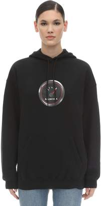 Balenciaga Speed Logo Cotton Sweatshirt Hoodie